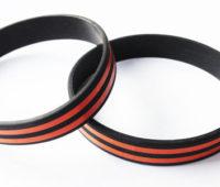 силиконовые браслеты поштучно Георгиевская лента