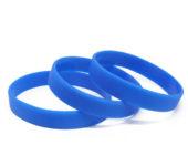 Силиконовый (резиновый) браслет синий 2935С