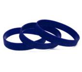 Силиконовый (резиновый) браслет синий 286С