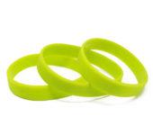 Силиконовый (резиновый) браслет зеленый 375С