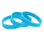 Силиконовый (резиновый) браслет голубой 306С