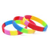 Резиновый силиконовый браслет цвета радуги