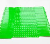 Виниловые браслеты зеленые. Контрольные браслеты для мероприятий