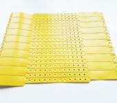 Виниловые браслеты желтые. Контрольные браслеты для мероприятий
