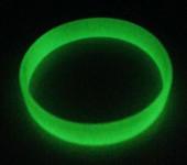 Силиконовый (резиновый) браслет светонакопительный (светящийся)