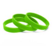 Силиконовый (резиновый) браслет зеленый 802С